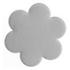 Metal Blank 24ga German Silver Flower 22mm No Hole